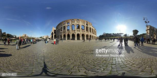 Panorama of the Colosseum also known as the The Flavian Amphitheatre on December 31 2016 in Rome Italy The Colosseum or the Flavian Amphitheatre is...