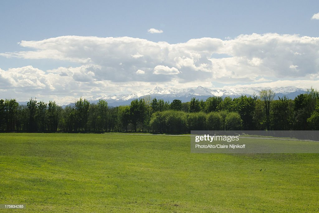 Panorama of the Pyrenees, France : Stock Photo