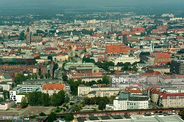 Panorama of the Wroclaw town