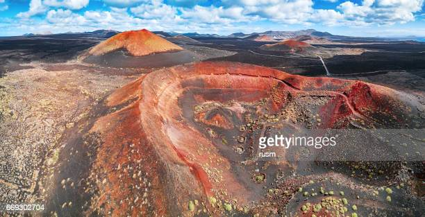Panorama of Timanfaya National Park, Lanzarote, Canary Islands