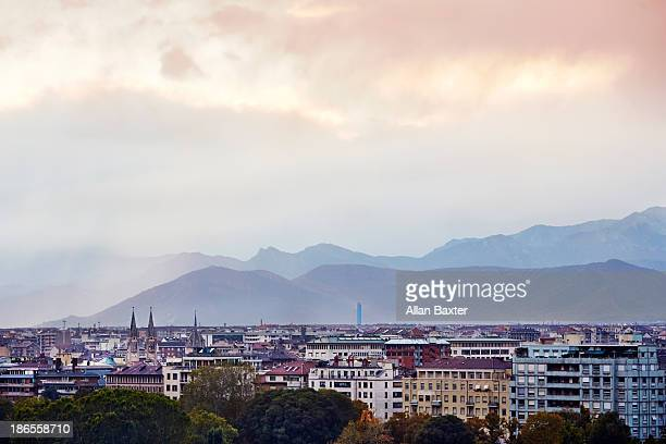 Panorama of Turin and the Alps