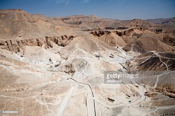 Panorama of Valley of the Kings Luxor Egypt