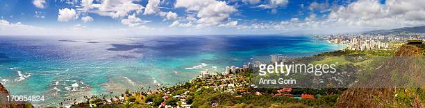 Panorama of Waikiki Beach