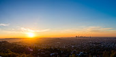 Taken from Griffith Observatory, this stunning sunrise panorama is comprised of 8 images.