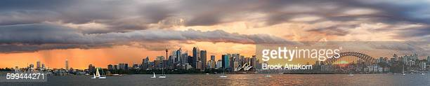 Panorama Scene Sydney Storm on summer time