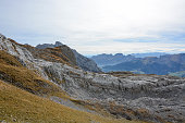 panorama photo of the alpstein massiv switzerland swiss alps säntis