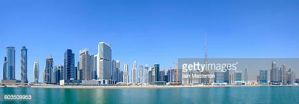 Panorama skyline of Business Bay Dubai