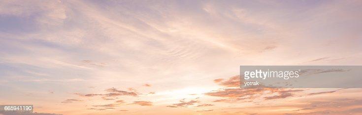 panorama sunset sky background : Stock Photo