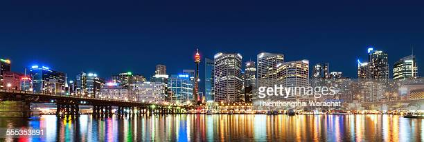 Panorama Sydney Darling Harbour Night
