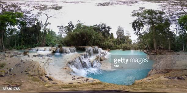 360 Panorama taken at Kuang Si Falls second pool
