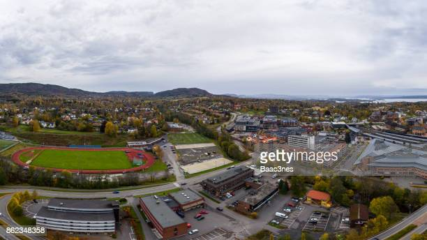 Panorama view of Asker, Norway