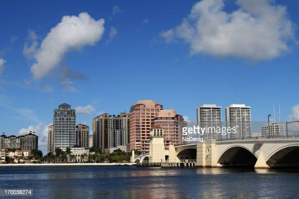 Panorama view of downtown West Palm Beach on a cloudy day