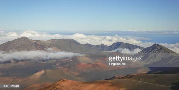 Panorama view of Haleakala Crater, Maui, Hawaii