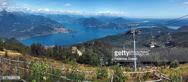 Panorama View of Lake Maggiore from Mt Mottarone