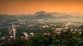 Panorama View of Luang Prabang City