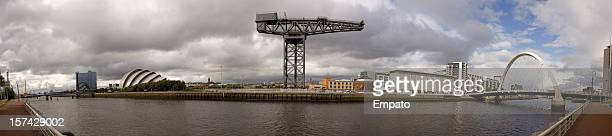 Panorama view of River Clyde, Glasgow.