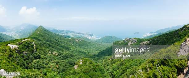 Panorama view of Shodoshima Island, Kagawa, Japan