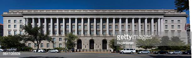 Panorama view of the Internal Revenue Service Building located in the center of the Federal Triangle complex in Washington DC