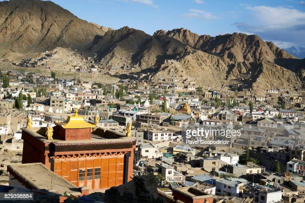 Panorama View Of The Town Of Leh, The Administrative Centre Of Ladakh, India