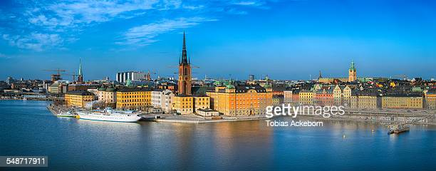 Panorama view over Stockholm