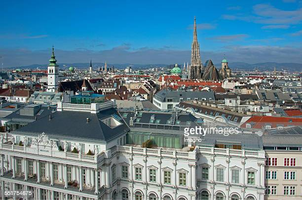 Panorama view over Vienna Inner City with St Stephen's Cathedral In the foreground Coburg Palace 2015 Photograph by Gerhard Trumler