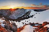 Panorama winter mountain landscape - Slovakia