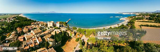 Panoramic Aerial View of La Costa Brava