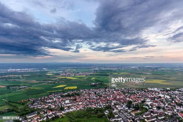 Panoramic aerial view Rhein-Main area