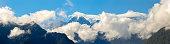 Panoramic Aoraki Mount Cook in New Zealand's South Island