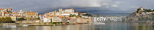 Panoramic - city of Porto and the Douro River