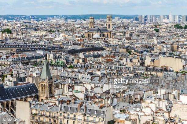 Panoramic cityscape of Paris