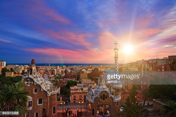 panoramic image of Barcelona