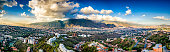 Panoramic image of eastern Caracas city aerial view
