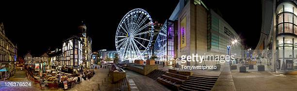 Panoramic image of the Triangle, Manchester city centre, UK