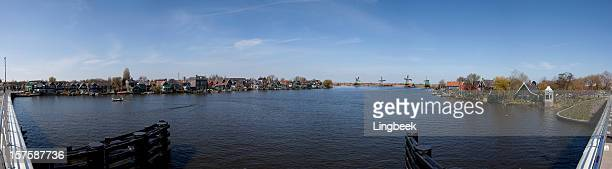 Panoramic image of Zaanse Schans