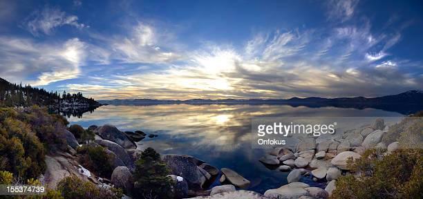 Panoramic Lake Tahoe at Sunset