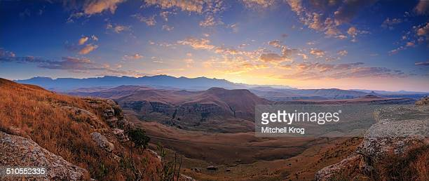 Panoramic landscape of Giants Castle, South Africa