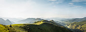 Panoramic landscape, Saint-Michel, Pyrenees, France (Near the Spanish-French border)