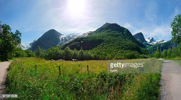 Panoramic mountain meadow, Norway