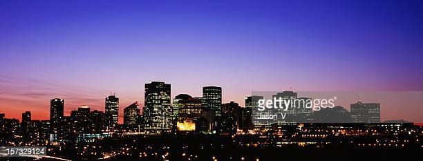 Panoramic nightime Edmonton