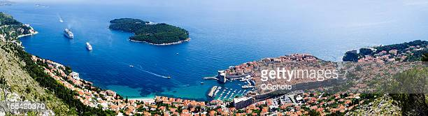 Panoramic of Dubrovnik and Lokrum Island, Croatia