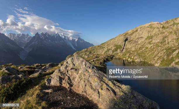 Panoramic of Mont Blanc massif, France
