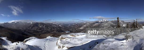 Panoramic of Noonmark Mountain Summit, Adirondacks