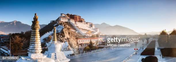Panoramic of Potala palace, Lhasa, Tibet, China