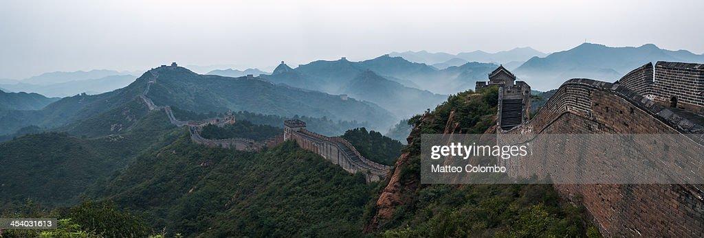 Panoramic of the Great Wall of Jinshanling, China