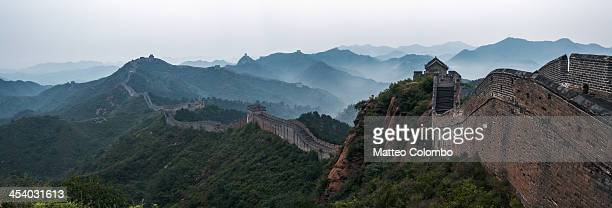 Panoramic of the Great Wall of Jinshanling, China