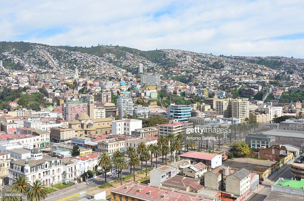 Panoramic of the Valparaíso City Chile