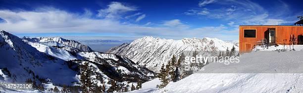 Vue panoramique de la station de Ski de l'Utah en hiver