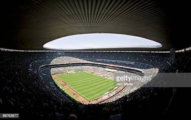 Panoramic photo of Azteca Stadium during the FIFA 2010 World Cup Qualifier match between Mexico and USA on August 12 2009 in Mexico City Mexico