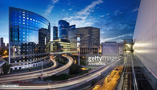 Panoramique Quartier de la Défense Paris : Stock Photo